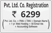 Private Limited registration @ Rs 6299 click here