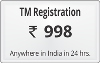 Trademark registration @ Rs 1499 click here